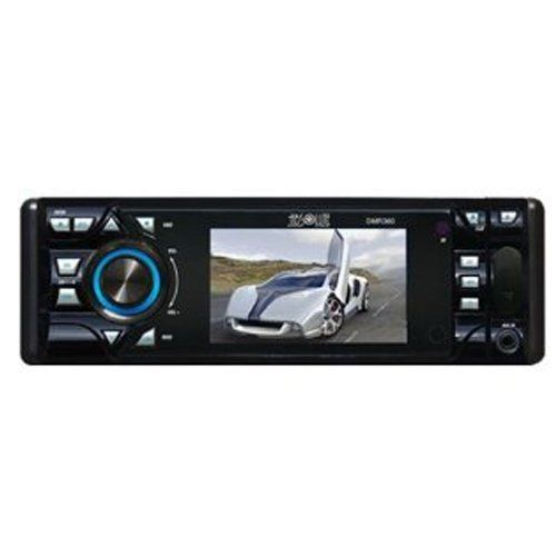 Absolute DMR360 3.5-Inch In-Dash Receiver with DVD Player Flip Down Detachable Panel,