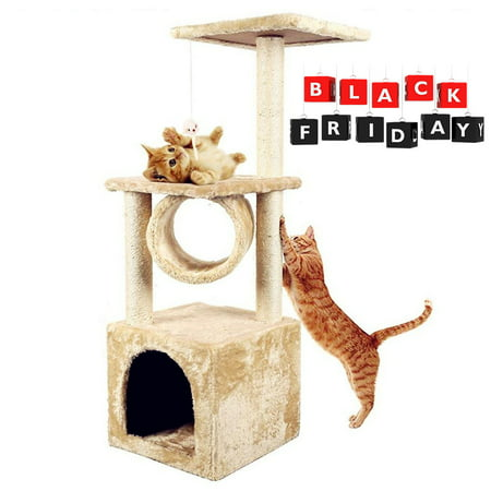 Swell Cat Tree 36 Cat Tree Condo Tower Post Play House Kitten Condo Furniture Bed Post Pet House On Clearance Download Free Architecture Designs Scobabritishbridgeorg