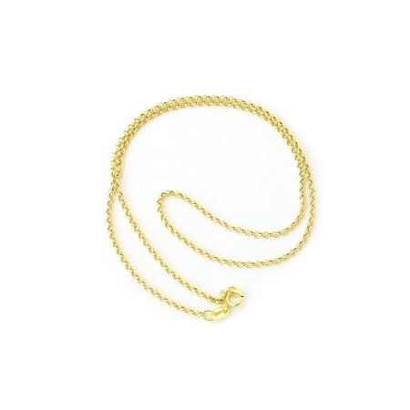 "Beauniq 14k Yellow or White Gold 1.9mm Lightweight Round Rolo Chain Necklace, 16"" 18"" 20"""