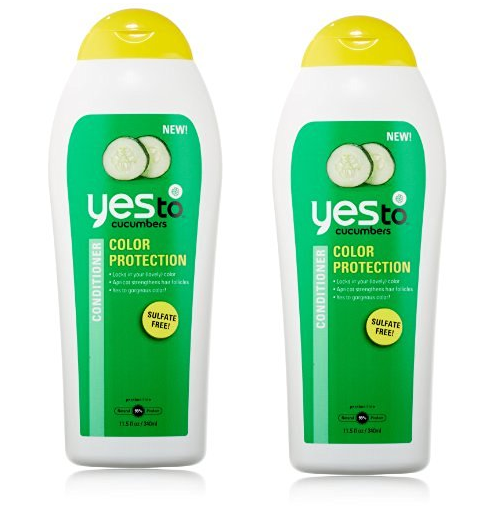 Yes To Cucumbers Color Protection Sulfate Free Conditioner, 11.5 Fluid Ounce (Pack of 2)