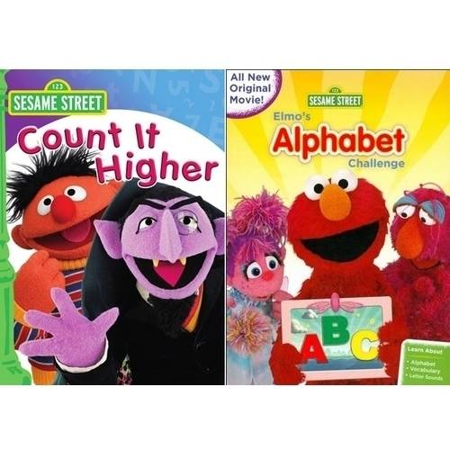 Elmo's Alphabet Challenge / Count it Higher: 2-Pack (Walmart Exclusive)](Elmo Count Dracula)