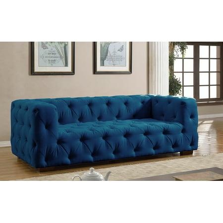 Luxurious Modern Large Tufted Linen Fabric Sofa