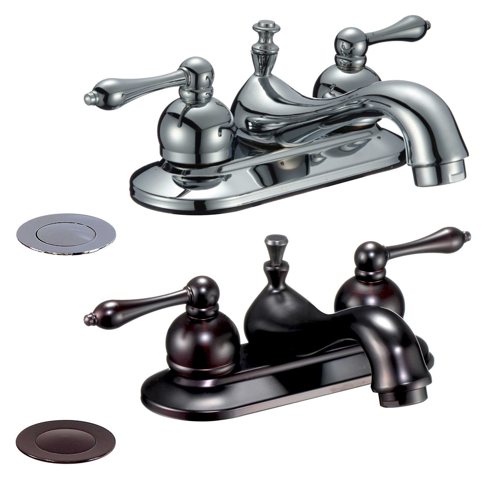 FREUER Per Sempre Collection: Centerset Bathroom Sink Faucet - Multiple Finishes Available