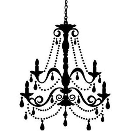 RoomMates RMK1805GM Chandelier with Gems Peel & Stick Giant Wall ...
