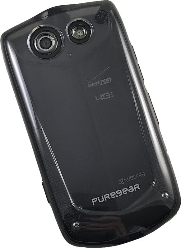 best website 892e6 fc1e1 Kyocera Brigadier Clip Case, PureGear Black/Clear Transparent Hard Cover +  Belt Hip Holster for Verizon Kyocera Brigadier E6782
