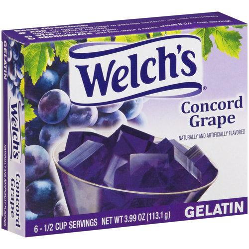 (4 Pack) Welch's Concord Grape Gelatin, 3.99 oz