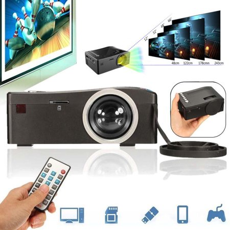 Video Projector Full HD 1080P Home Theater LED Mini Multimedia Projector Cinema USB TV