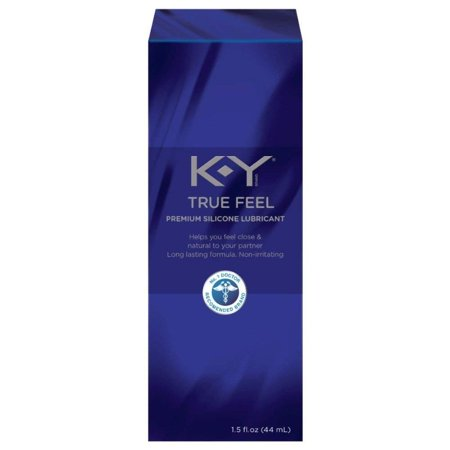 KY True Feel Premium Silicone Lubricant, Non-Irritatint, 1.5 Oz + Facial Hair Remover