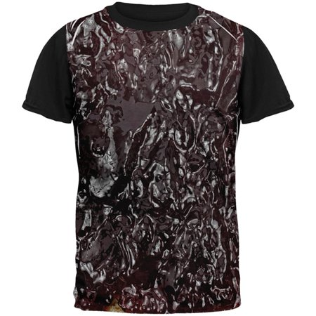 Halloween Jelly PB Costume All Over Mens Black Back T Shirt](Halloween Eyeball Jelly)