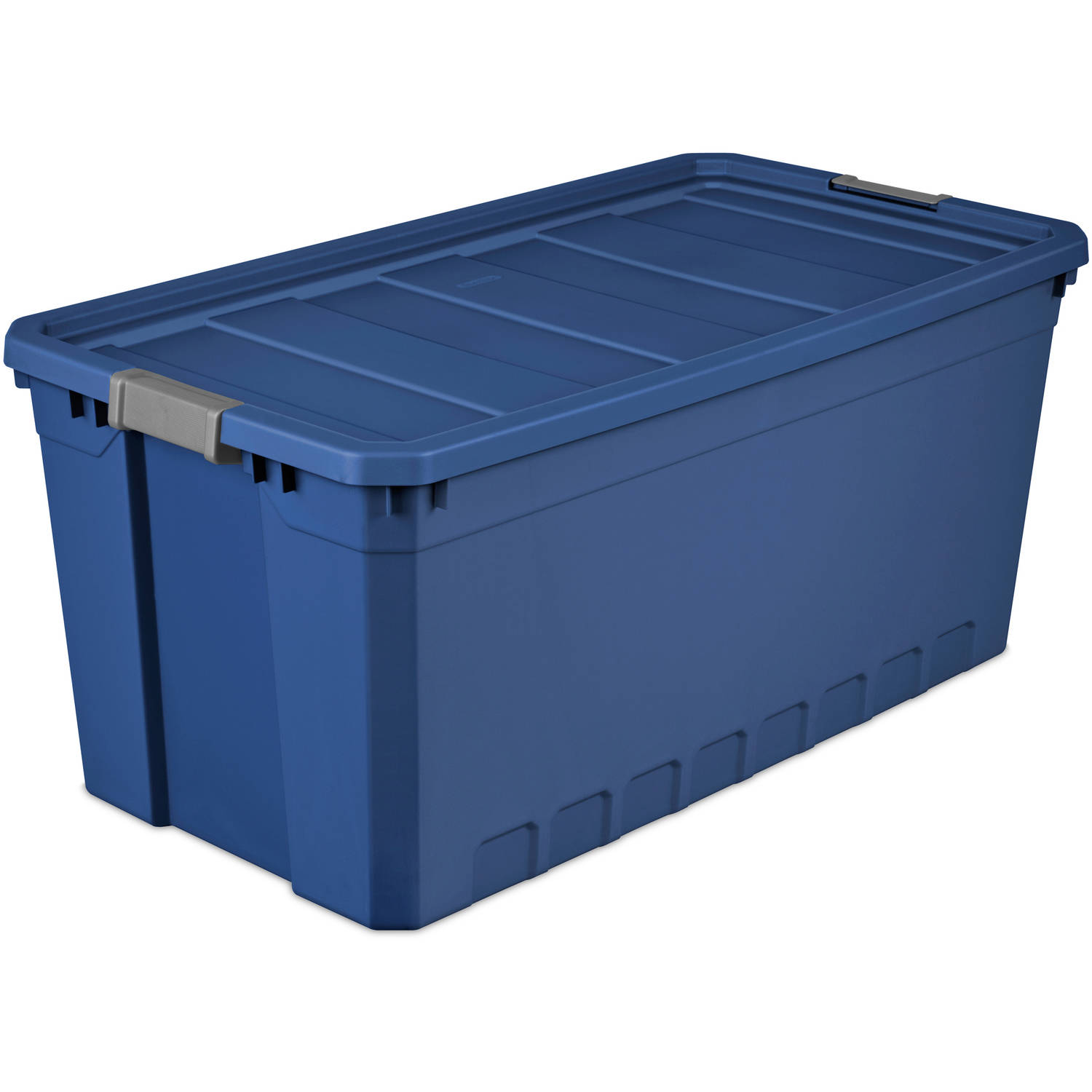 Sterilite 50 Gallon Stacker Tote- Stadium Blue (Available in Case of 3 or Single Unit)