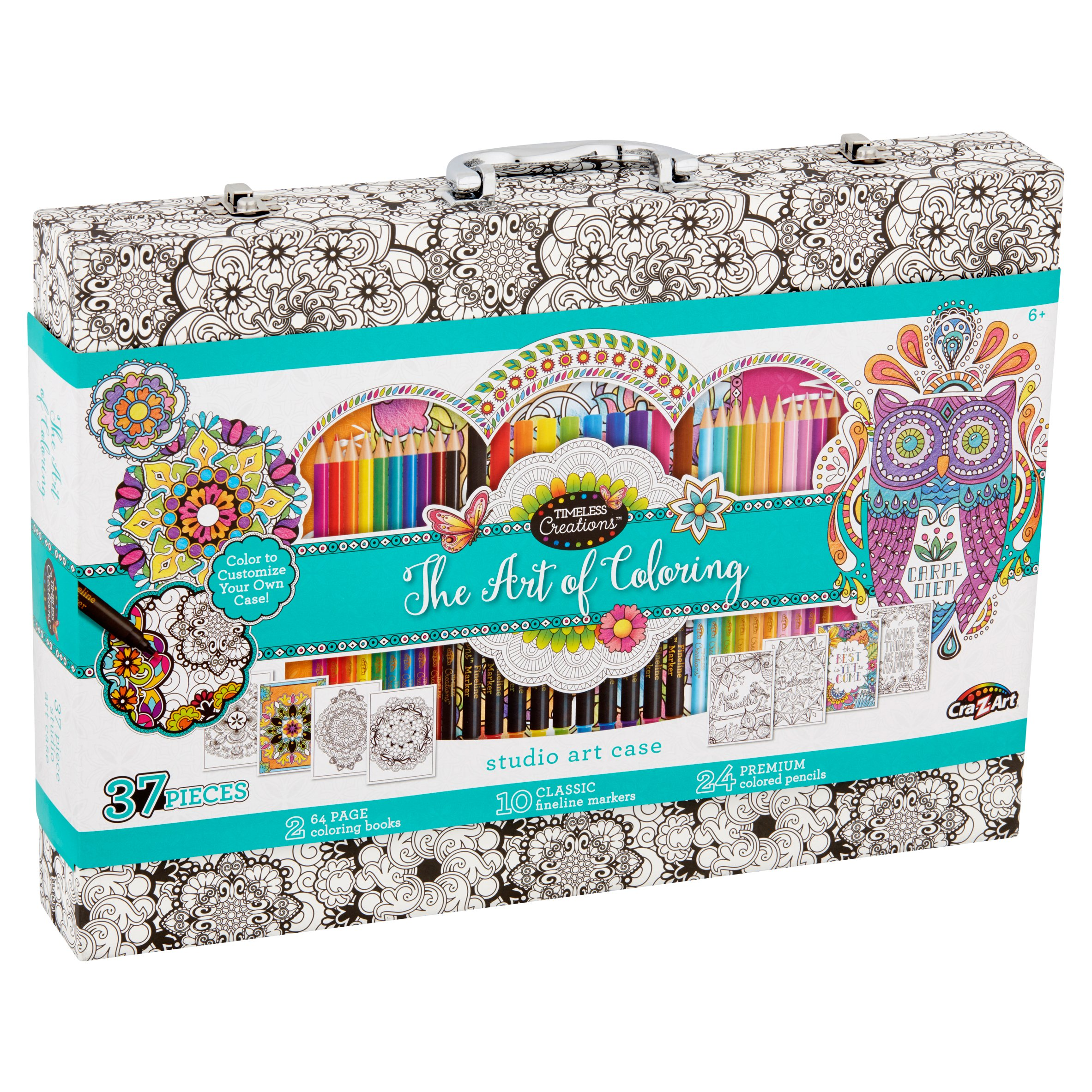 Cra-Z-Art Timeless Creations Art Of Coloring Adult Coloring Case