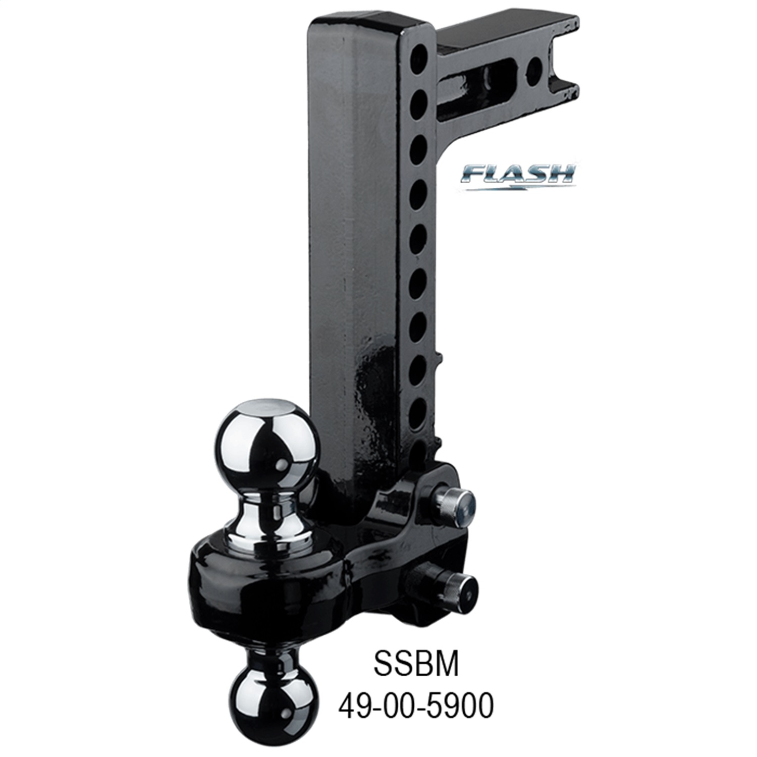 Fastway Trailer 49-00-5900 Flash SSBM Solid Steel Ball Mount ; 10 in. Drop; 11 in. Rise; 2 And 2 5/16 in. Ball; Fits 2 in. Receiver ;