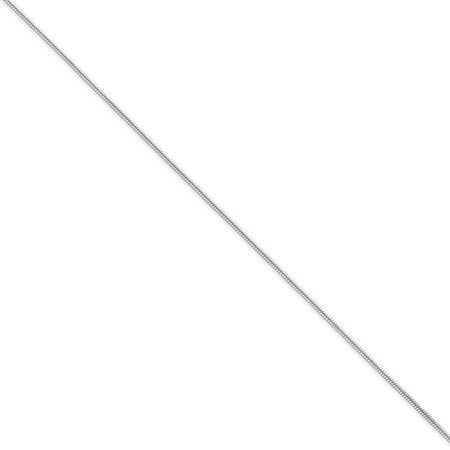 (Sterling 20in Silver 1mm Round Snake Necklace Chain)