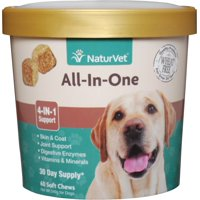 NaturVet All-In-One Veterinarian Formulated Complete Health Solution for Dogs, 60 Chews