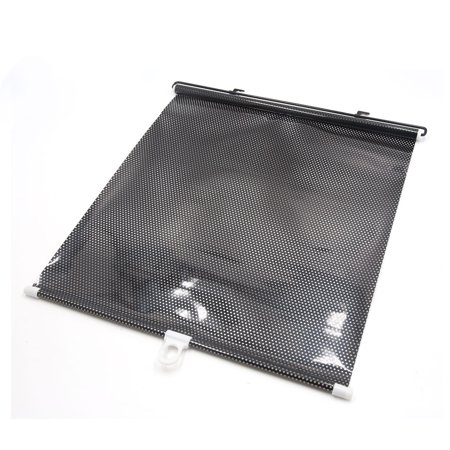 Retractable Auto Car Side Window Sun Shade Shield Visor Curtain Black 60 x 40cm