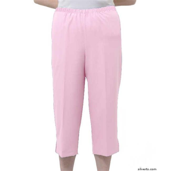 Silverts 233401401 Womens Adaptive Wheelchair Capri Pants, Pink - Small - image 1 de 1