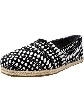 0c2bc66f81e Product Image Toms Women s Classic Diamond Tribal Rope Sole Black  Ankle-High Canvas Slip-On Shoes