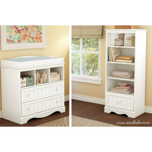 South Shore Savannah Changing Table and Shelving Unit, Multiple Finishes
