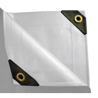 """UST Inc. 6 x 10 Heavy Duty Canopy Tarp - White 12 mil"""