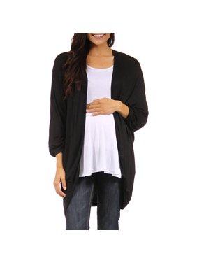 Women's Maternity Dolman Sleeve Oversized Long Shrug