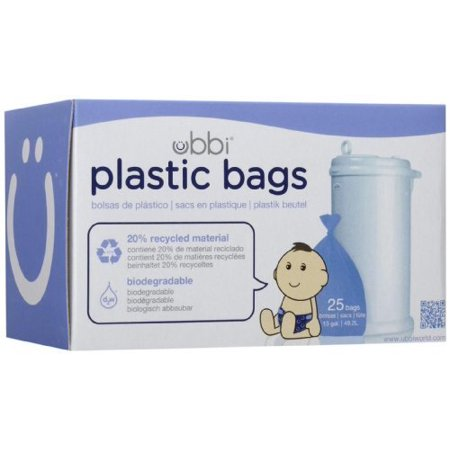 Ubbi Plastic Bags, Purple, 25 Count