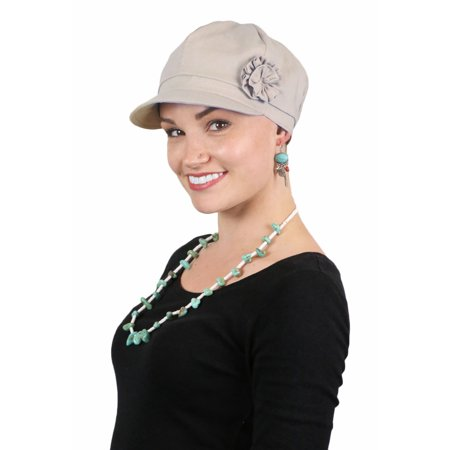 Newsboy Cap For Women Hats for Cancer Patients Chemo Headwear Cotton Head - Ladies Newsboy Cap