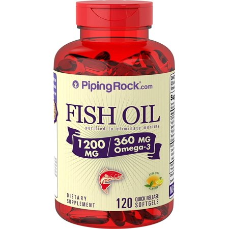 Piping Rock Fish Oil 1200 mg with 360 mg of Omega-3, 120 Quick Release Capsules Dietary (Best Fish Oil Capsules)