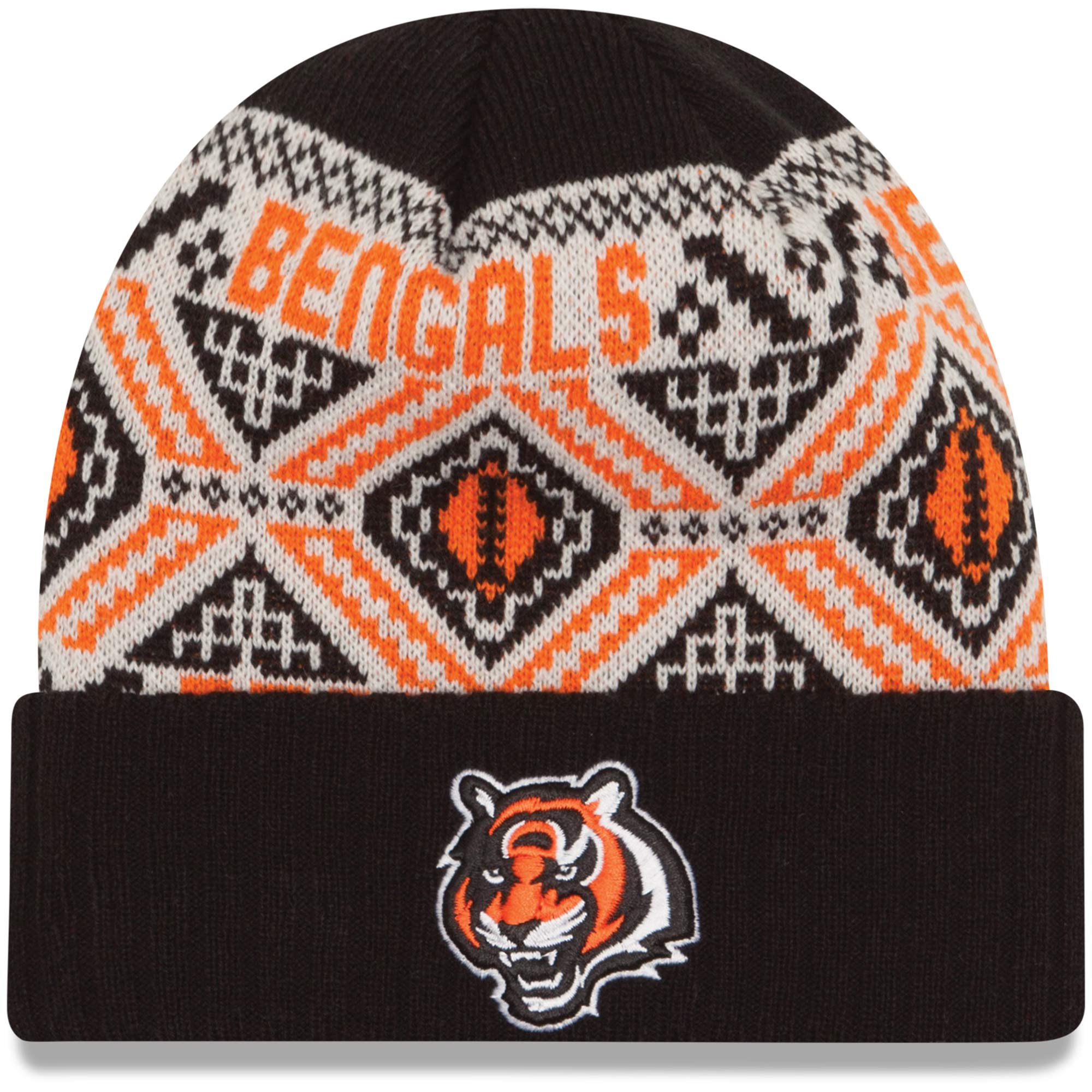 Brand New With Tags NFL New Era Cincinnati Bengals Beanie Hat Orange OSFA