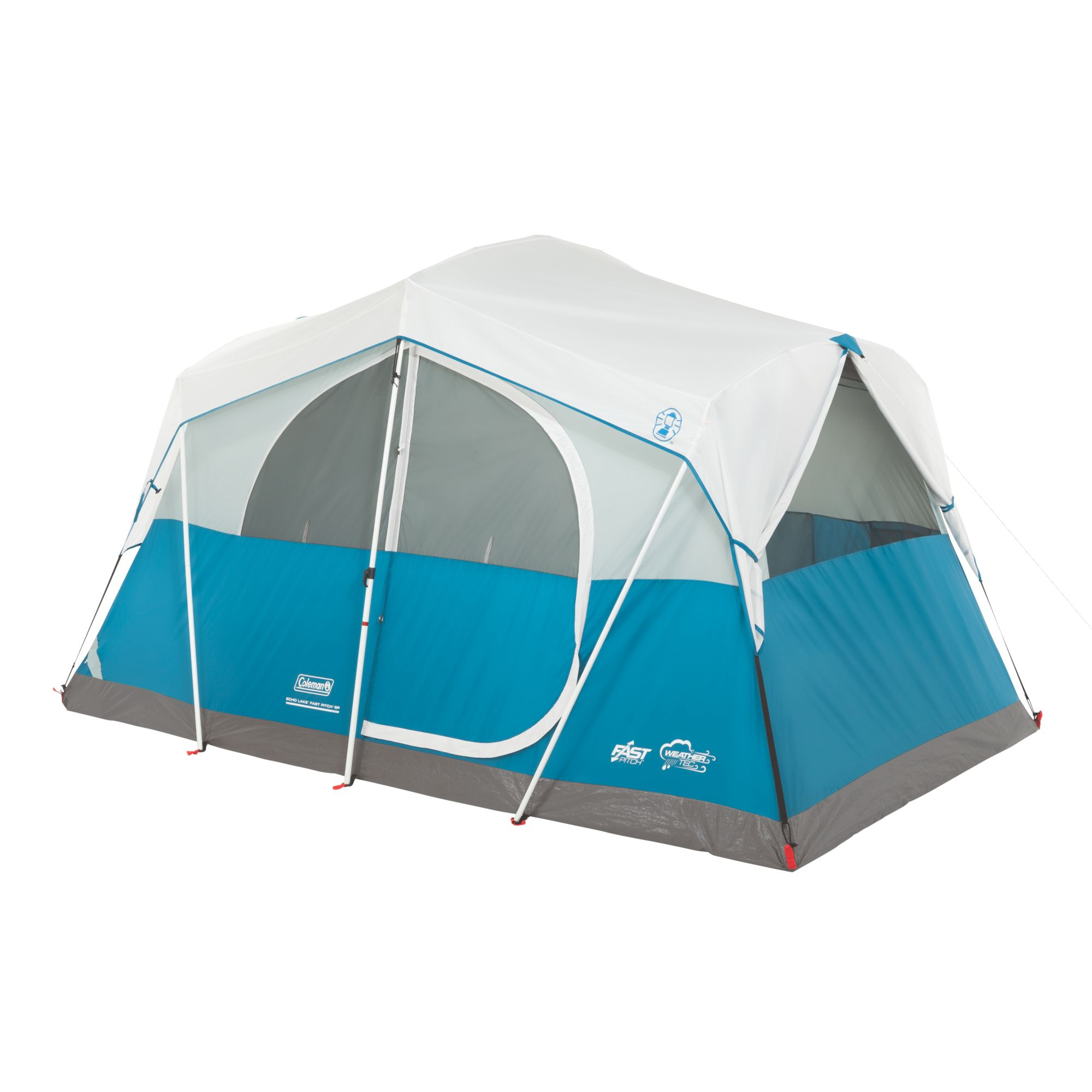 Coleman Echo Lake 6 Person Fast Pitch Cabin Tent w  2' x 2' Cabinet | 12' x 7' by COLEMAN