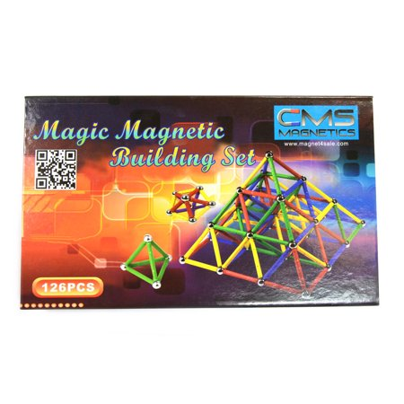 CMS Magnetics 156 Piece Magnetic Building Set - Building Toys For Adults