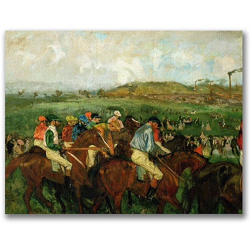 "Trademark Fine Art ""Gentleman Race, Before Departure"" Canvas Art by Edgar Degas"