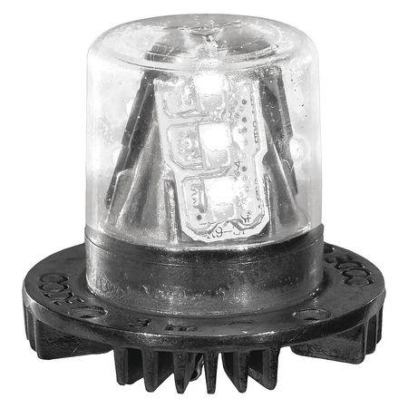 PSE AMBER HB915A Hidden Warning Light, LED, Amber, 1-1/2 Dia