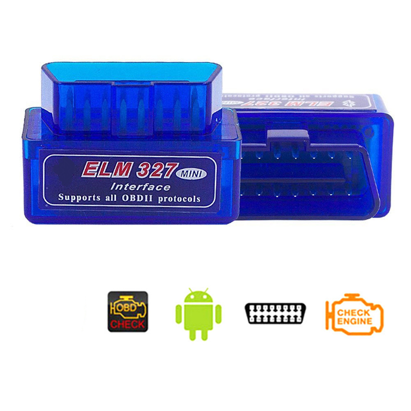 Super Mini ELM327 Bluetooth V2.1 OBD2 Wireless Car Diagnostic Scanner Universal OBD II Auto Scan Tool Work On Android