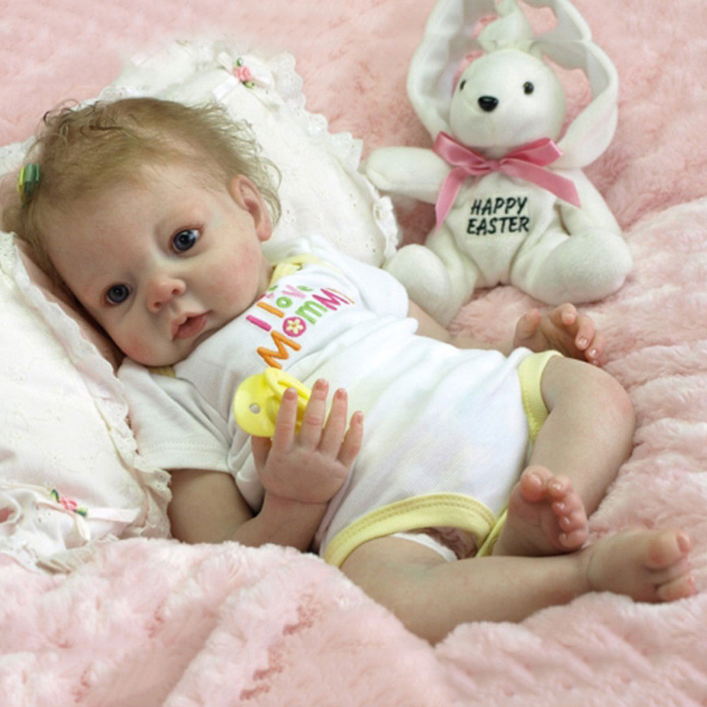 Reborn Doll 22/'/' Realistic Handmade Lifelike Newborn Silicone Vinyl Baby Doll