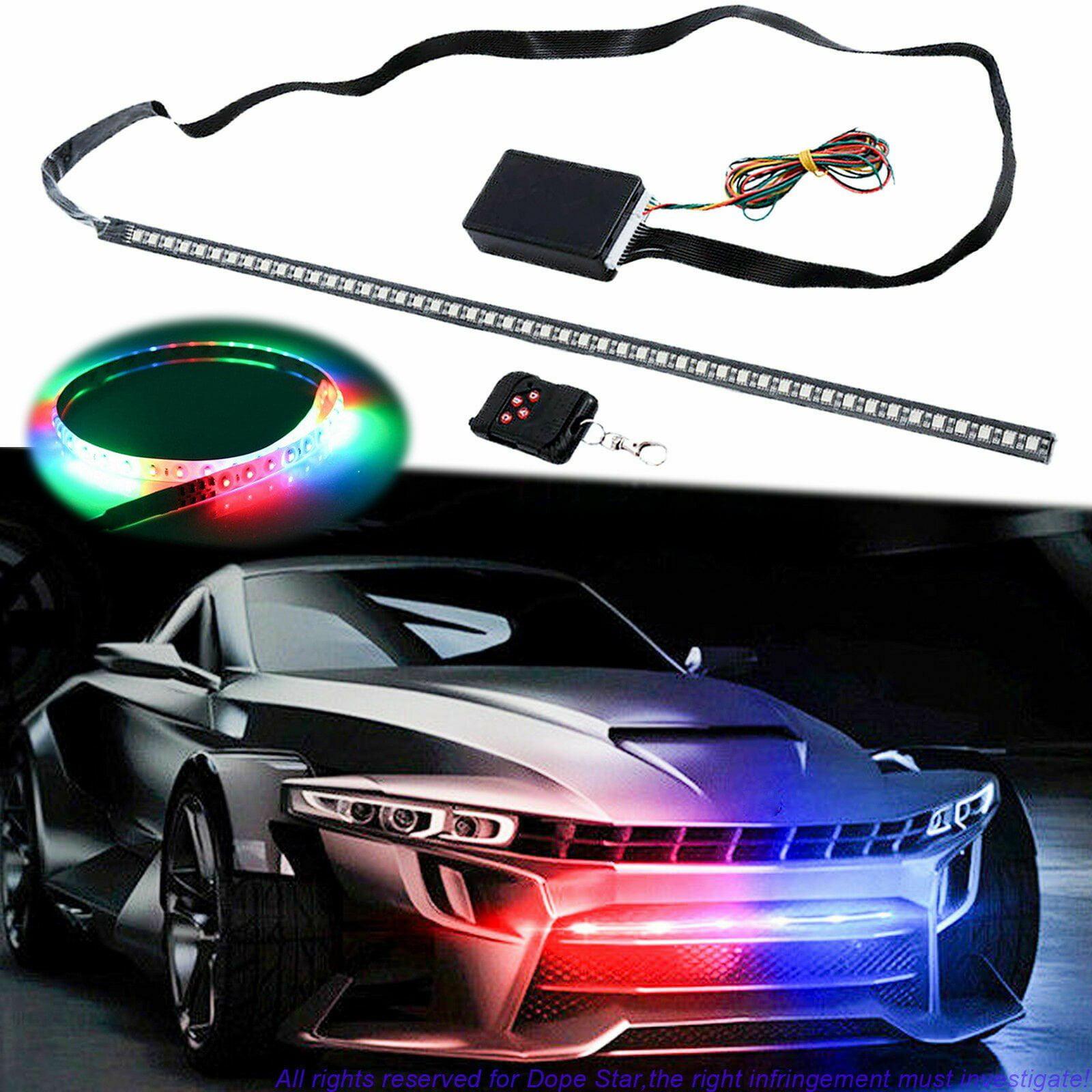 Xotic Tech RGB Knight Rider LED Scanner Light Strip, 21 ...