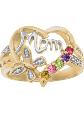 Personalized Family JewelryBlankBirthstone Blessing Mother's Ring available in Sterling Silver, Gold and White Gold