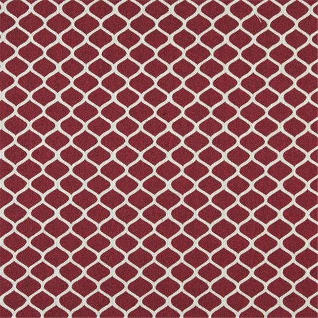 Designer Fabrics K0008A 54 in. Wide Red And Off White, Modern, Geometric, Designer Quality Upholstery Fabric