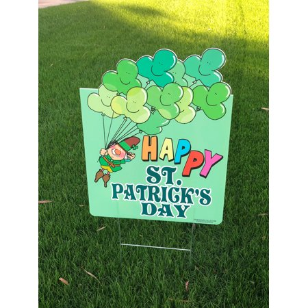St Patricks Day Sign - Happy St Patrick's Day Yard Sign 18 x 24 inch](St Patrick's Day Signs)