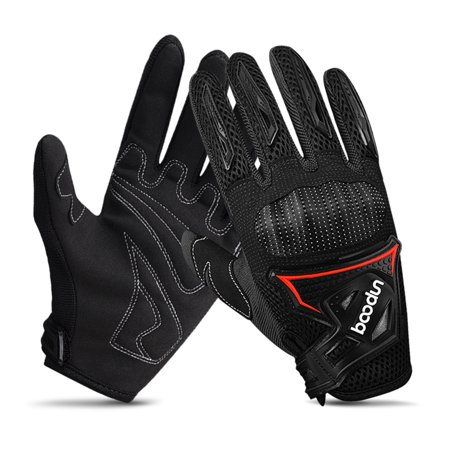 Winter Cycling Gloves Full Finger Windproof Warm Hand Riding Gloves Anti-skid Cold Weather Breathable Bike Gloves for Men and