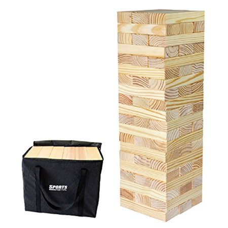 Halloween Fall Festival Game Ideas (Sports Festival Giant Wooden Toppling Tumbling Timbers Tower with Storage Bag Jumbo Huge Blocks Like Lawn Games for Family Backyard)