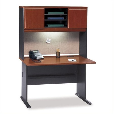 Bush Business Series A Wood Office Cubicle with Hutch in Hansen