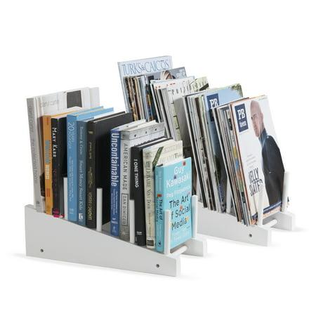 Free-Standing Wooden Cookware Cutting Board 4-Slot Kitchen Storage Countertop Organizer Rack Set of 2 White …