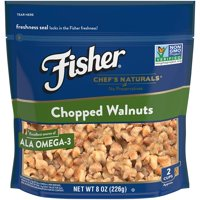 FISHER Chef's Naturals Chopped Walnuts, No Preservatives, Non-GMO, 8 oz