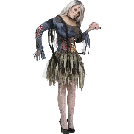 Zombie Adult Halloween Costume - Zombie Womens Halloween Costumes