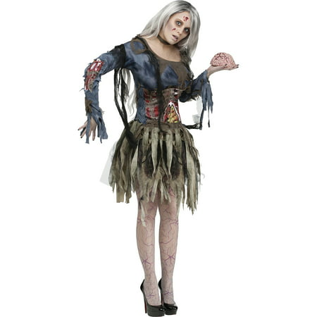 Zombie Adult Halloween Costume](Zombie Hair For Halloween)