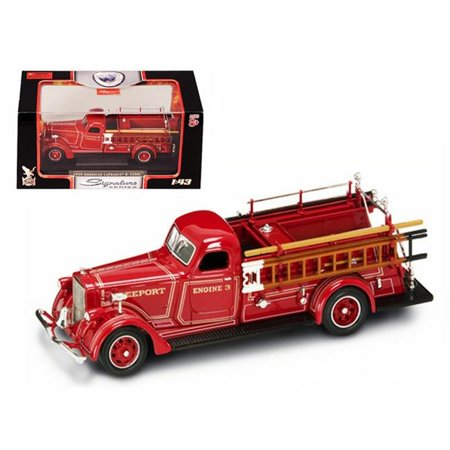 1939 American LaFrance B-550RC Fire Engine Red 1/43 Diecast Car Model by Road Signature ()