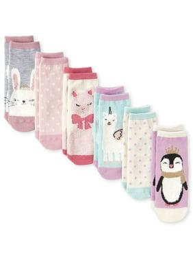 The Children's Place Critter Graphic Midi Socks, 6-Pack (Toddler Girls & Baby Girls)