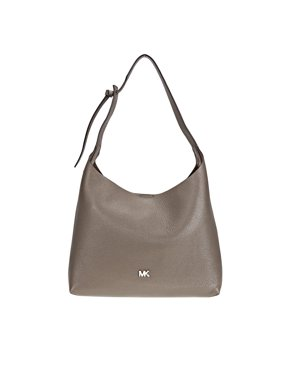 ed58d1bc03 Product Image Michael Kors Junie Medium Pebbled Leather Shoulder Bag-  Mushroom