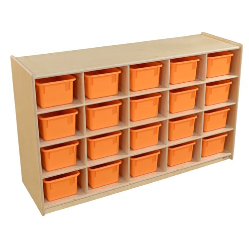 Wood Designs 20 Compartment Cubby with Trays