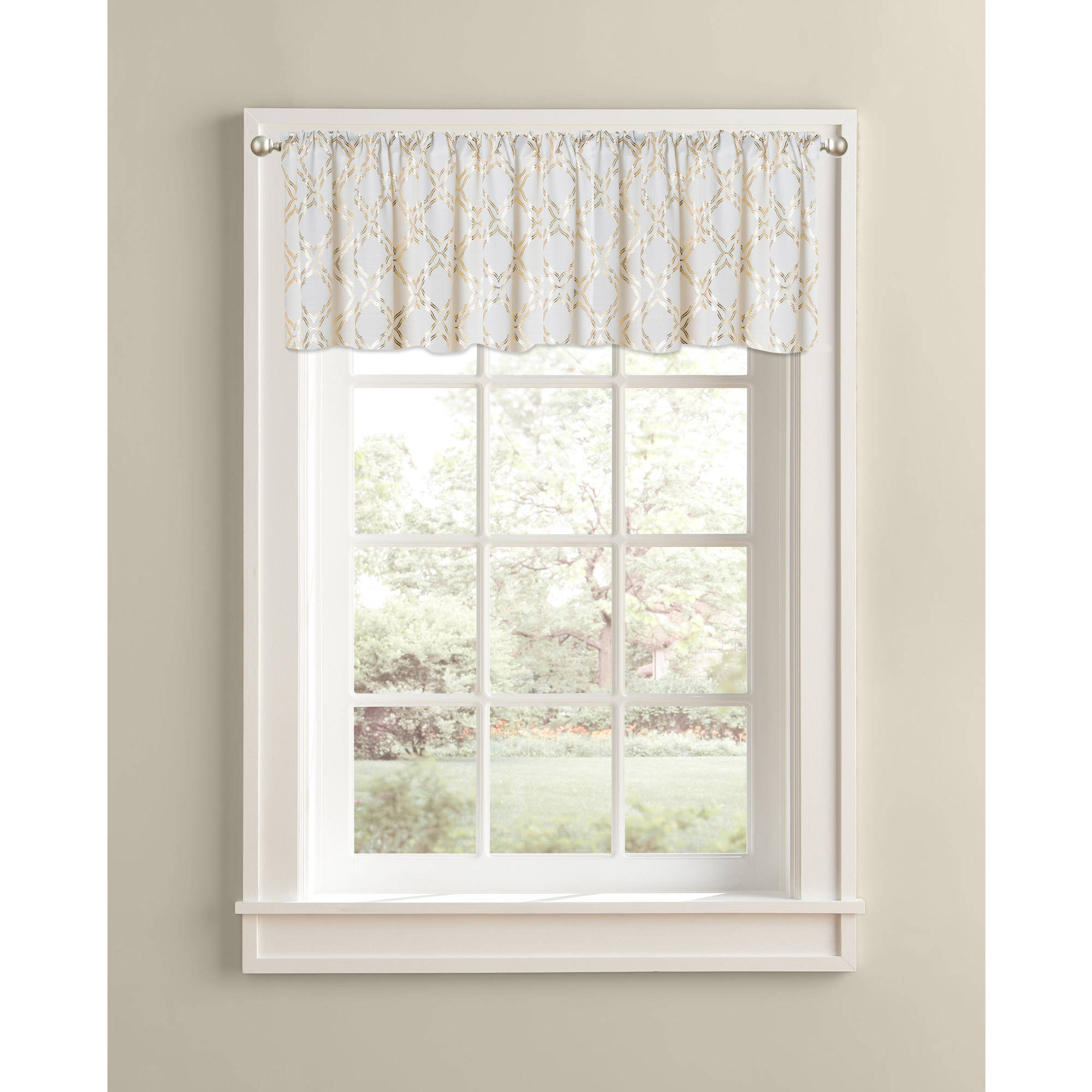 Better Homes and Gardens Golden Trellis Valance, Rod Pocket by Colordrift LLC